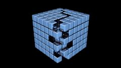 Blue Cubes - Assembly - Animation Stock Footage