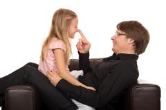 Father playing with his daughter Stock Photos