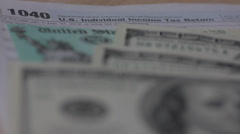 1040 tax return form Stock Footage