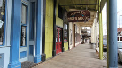 Nevada Virginia City boardwalk Stock Footage