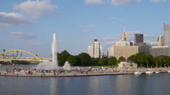 The Fountain at The Point in Pittsburgh Stock Footage