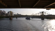 Stock Video Footage of Pittsburgh River Traffic