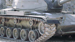 tank in motion on a mission of war - stock footage