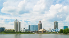 The building of regional government and hotel Hyatt Regency Ekaterinburg Stock Footage