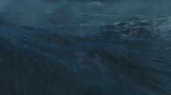 Ocean storm background Stock Footage
