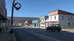 West Virginia Romney street scene with cars Stock Footage