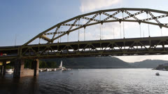 Fort Duquesne Bridge Stock Footage