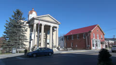 West Virginia Romney courthouse Stock Footage
