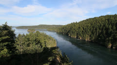 Washington State Deception Pass Stock Footage
