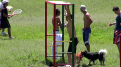 Playgrounds, Parks, Recreation, Children Playing Stock Footage
