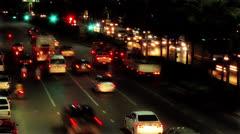 Timelapse traffic - stock footage