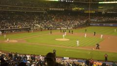 MLB Baseball New York Mets vs. New York Yankees time lapse Subway Series 5/28/13 Stock Footage
