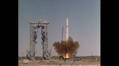 US Missiles Missile Start 04 - stock footage