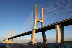 Ponte Vasco da Gama in Lisbon - stock photo