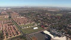 East Rand Aerial Helicopter South Africa OR Tambo Airport PAL Stock Footage