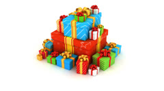 Gift boxes - stock footage