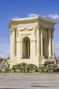 Arc de triomphe, in Peyrou garden, Montpellier, France Stock Photos