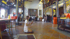Malacca chinese temple scene Stock Footage