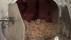 Collection of waste malt after brewing beer at the brewhouse. Stock Footage
