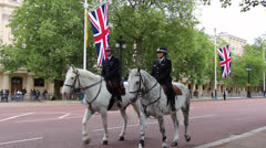 Queen's Birthday rehearsal Parade Stock Footage