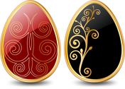 Stock Illustration of Easter Egg. Vector illustration in black over