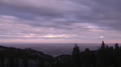 Wyoming view from Casper Mountain time lapse Stock Footage