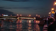 The Trinity Bridge timelapse opening, Saint-Petersburg Stock Footage