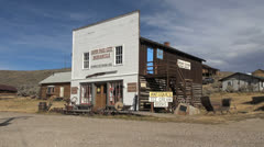 Wyoming South Pass City general store Stock Footage