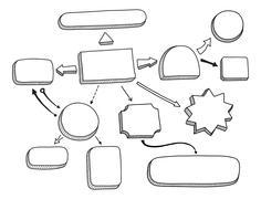 flowchart vector illustration - stock illustration
