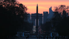 Paris, France - Jardin des Tuileries and Champs Elysees - Sunset 16 Stock Footage