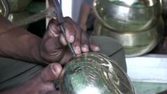 Craftsman tibetan bell Stock Footage