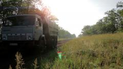 Truck On A Rural Road - stock footage