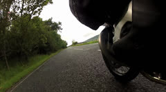 Motorcycle engine cylinder Stock Footage
