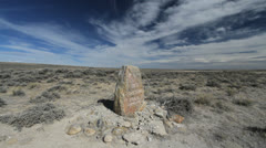 Wyoming South Pass Oregon Trail monument Stock Footage