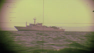 Stock Video Footage of Real periscope view from a submarine