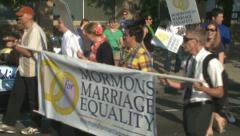 Gay Friendy Mormons Stock Footage