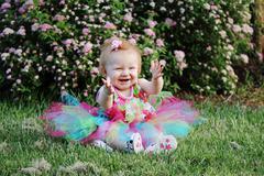 Baby colorful tutu Stock Photos