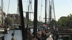 Delfshaven, Rotterdam, The Netherlands Stock Footage