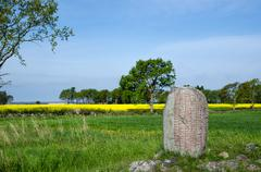 viking age stone - stock photo