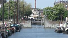 Delftshaven, Rotterdam, The Netherlands Stock Footage