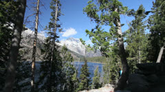 Wyoming Tetons at Jenny Lake Stock Footage