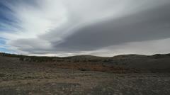 Dark cloud in Wyoming Stock Footage