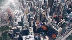 aerial view of New york & sunlight,satellite navigation,spectacular city. - stock footage