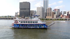 Gateway Clipper Fleet Tour Boat - stock footage