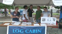 Log Cabin Republicans Stock Footage