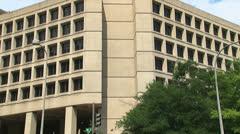 (Tilt) FBI building in Washington, D.C. Stock Footage