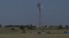 An active windmill in Texas Stock Footage