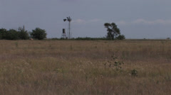A decrepit windmill 2 in Texas Stock Footage