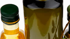 Olive oil with olives Stock Footage