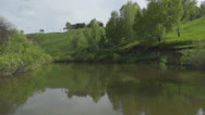 Stock Video Footage of Calm summer landscape at the river